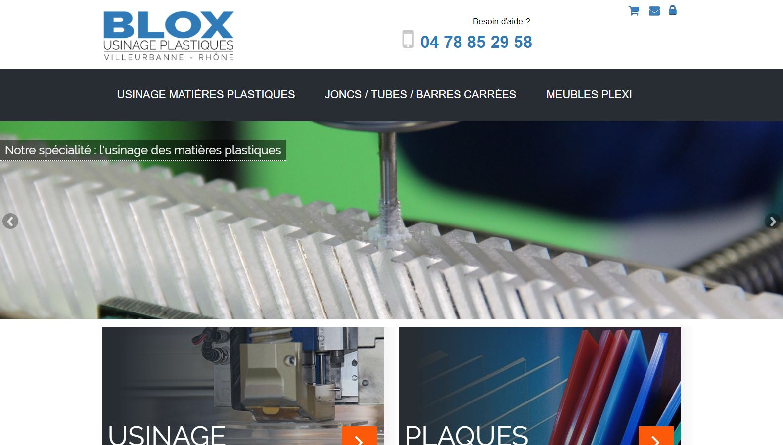 Réalisation RP2I (Romaric Pibolleau): BLOX - Site sous Prestashop + site institutionnel